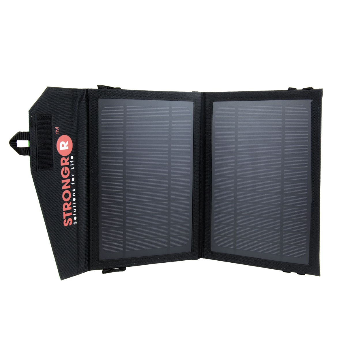 Strongrr 7W Solar Charger w/ Foldable High Efficient Monocrystalline Panels