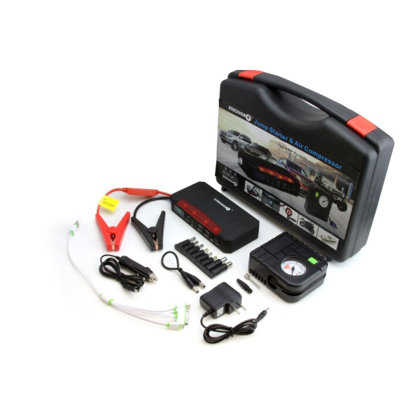 Strongrr T808B Jump Starter with Air Compressor Laptop Charger 21000mAh Power Bank