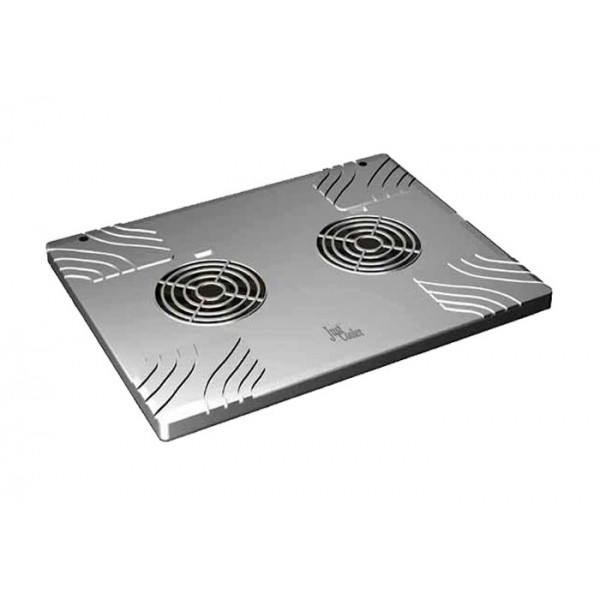 Just Cooler Laptop Notebook Cooling Pad w/ 2 Fans (Silver)
