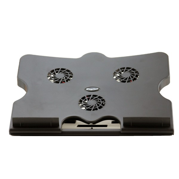 Super Cooling Pad with 3 Fans for Notebook Laptop (Black)