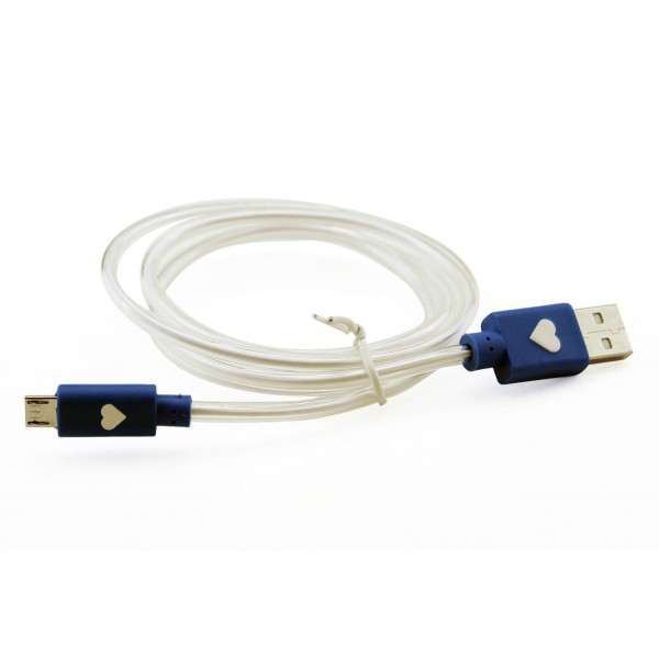LB1 High Performance New Micro USB Cable Glow-in-the-dark Universal Data Sync Charger Micro USB Cable (Blue)