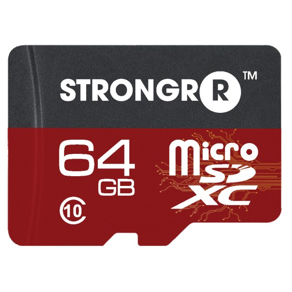 Strongrr 64GB MicroSDHC Class 10 UHS Memory Card