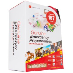 LB1 High Performance New Emergency First Aid Kit for Home/ Work/ Auto/ Travel/ Medical/ Family and Outdoor Activities 167 Pieces Soft Sided Emergency Preparation Kit